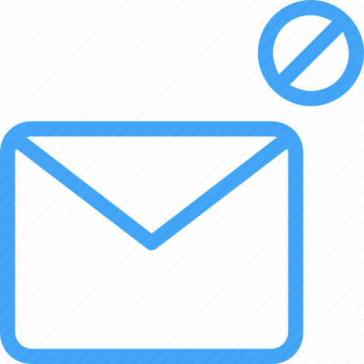 blocked, email, envelope, letter, mail, messag icon