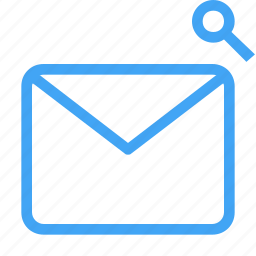 email, letter, mail, message, search icon icon