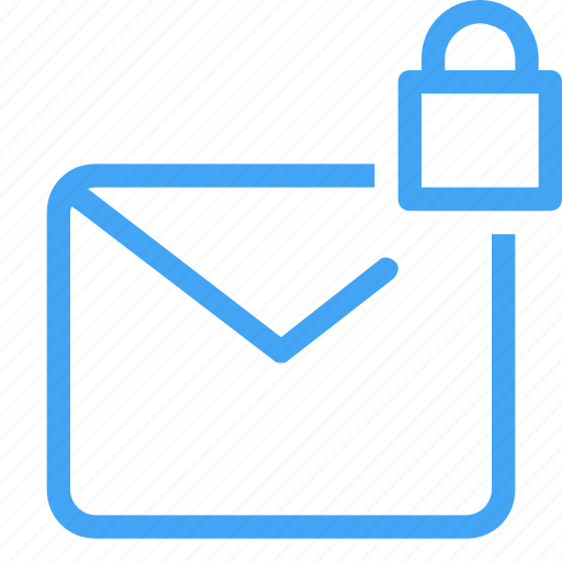 email, letter, locked, mail, message, security icon