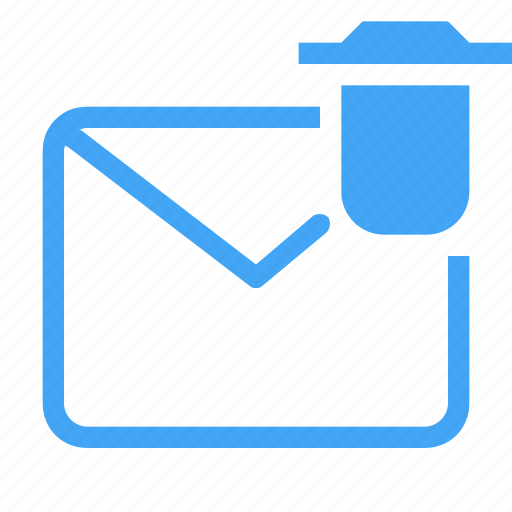 email, letter, mail, message, remove icon icon
