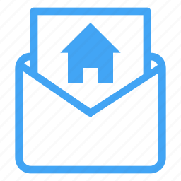 document, email, envelope, home, house, letter icon