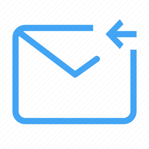 arrow, email, left, letter, mail, message icon