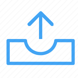arrow, outbox, up, upload icon icon