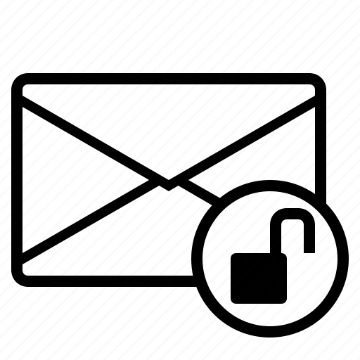 email, email unlocked, mail, unlocked, unlocked mail, unlocking mail icon