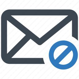 block, cancel, email, spam icon