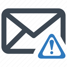 alert, attention, email, warning icon
