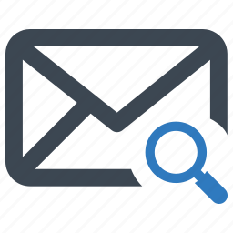 email, magnifying glass, message, search icon
