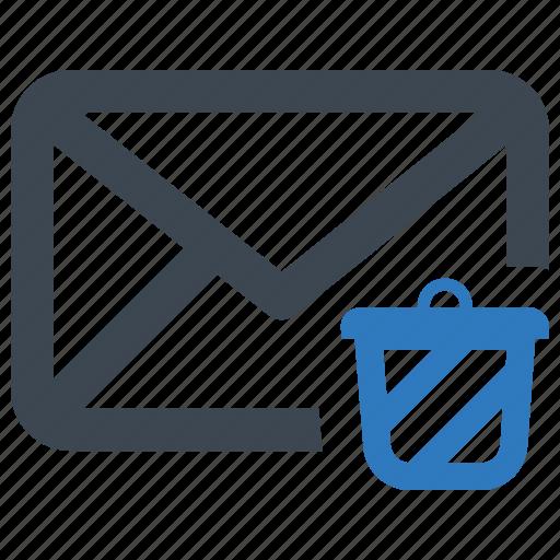 delete, email, message, trash icon