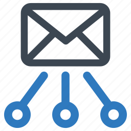 email, hierarchy, structure, workflow icon