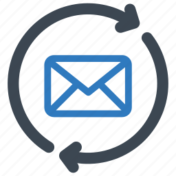 email, mail, refresh icon