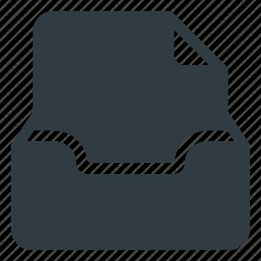 document, inbox, set icon