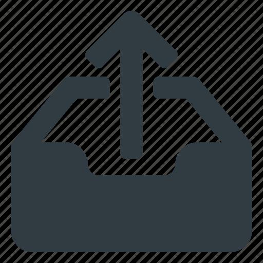 document, inbox, set, upload icon