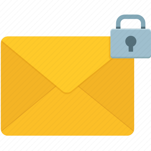 email, envelope, lock, mail, mails, message, multimedia icon