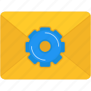 email, envelope, mail, mails, message, multimedia, settings icon