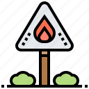 caution, danger, disaster, sign, warning icon