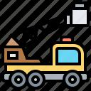 basket, crane, emergency, fire, truck