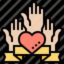 charity, hands, heart, help, volunteer
