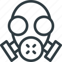 emergency, gas, help, mask, sos icon