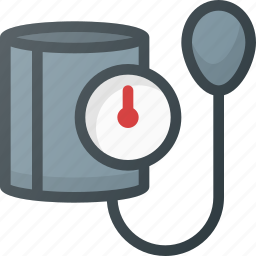 blood, cuff, pressure icon