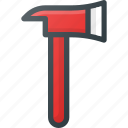 alarm, axe, emergency, fire, help icon
