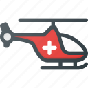 emergency, fast, helicopter, help icon