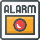 alarm, fire, help icon
