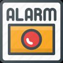alarm, fire, help