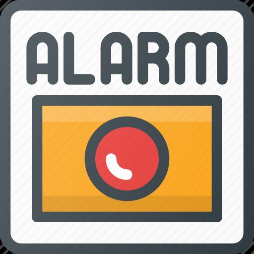 alarm, fire, help icon