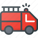 alarm, emergency, fire, help, truck icon