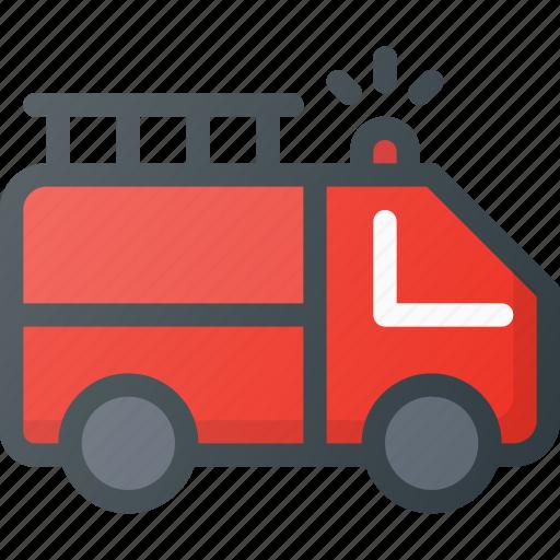 alarm, emergency, fire, help, truck icon