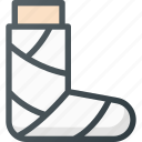 bandage, gypsum, leg icon