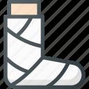 bandage, gypsum, leg