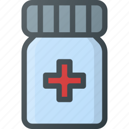 morphine, painkiller, pill icon
