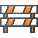 atention, block, road, sign icon