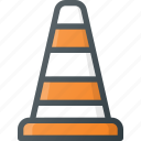 buoy, atention, block, road, sign icon