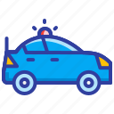 cop, emergency, police car, security icon