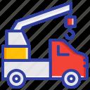 crane truck, emergency, fire engine, fire truck, safety