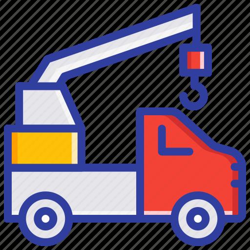 Crane truck, emergency, fire engine, fire truck, safety icon - Download on Iconfinder