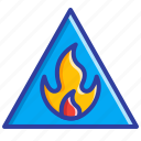 fire, flame, hazard sign, safety, warning