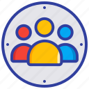 assembly point, emergency, meeting, people, safety icon