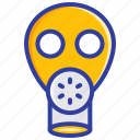 gas mask, protection, respirator, safety, toxic icon