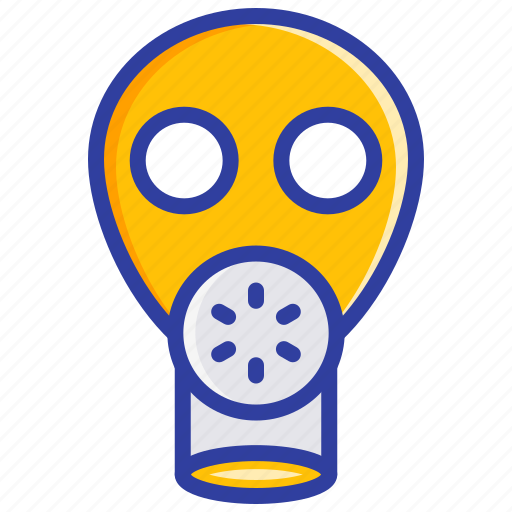 gas mask, protection, respirator, safety, toxic icon