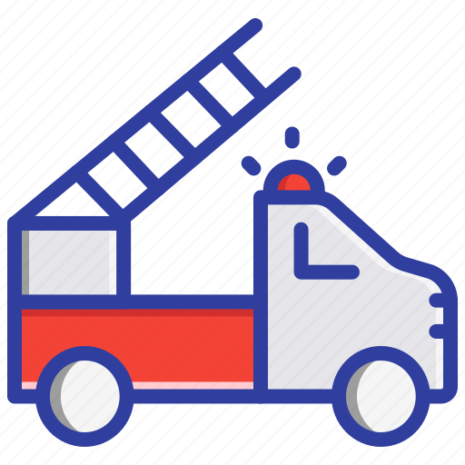 Fire engine, fire truck, firefighters, safety icon - Download on Iconfinder