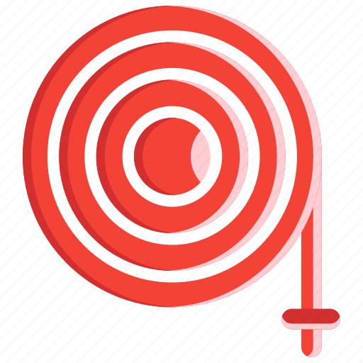 fire hose, fire safety, fire station, security, water hose, watering icon