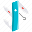 compact, knife, pocket knife, safety, swiss knife icon