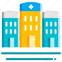 building, emergency, healthcare, hospital, medical icon