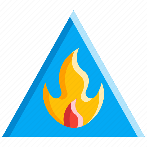 Fire, flame, hazard sign, safety, warning icon - Download on Iconfinder