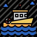 lifeboat, boat, ship, dinghy, transportation