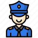 police, security, guard, people