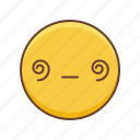 dizzy, emoji, emoticon, emoticons, emotion, face, smiley icon